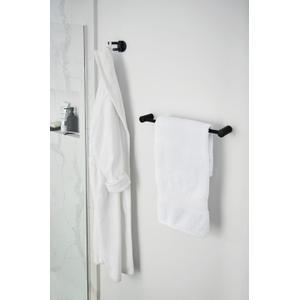 "Align matte black 18"" towel bar"