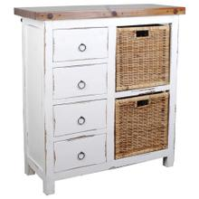View Product - Basket Cabinet - Whitewashed