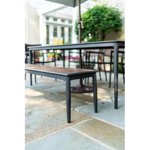 """Penelope 72"""" Aluminum / Polywood Dining Bench"""