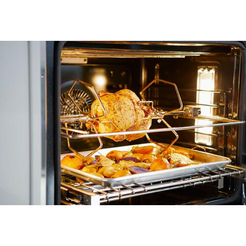 Thermador - Double Wall Oven 30'' Right Side Opening Door, Stainless Steel POD302RW