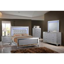 VALENTINO Queen Bedroom Set: Queen Bed, Nightstand, Dresser & Mirror
