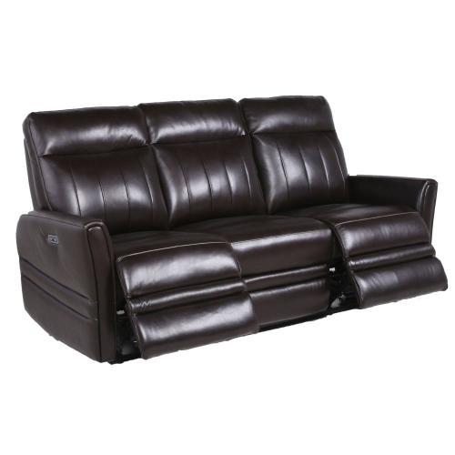 Coachella Leather Dual-Power Reclining Sofa - Brown