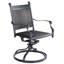 Anchor Wicker Cast Dining Swivel Rocker Arm Chair