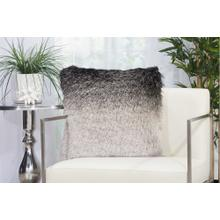 """Shag Tr011 Black/silver 20"""" X 20"""" Throw Pillow"""
