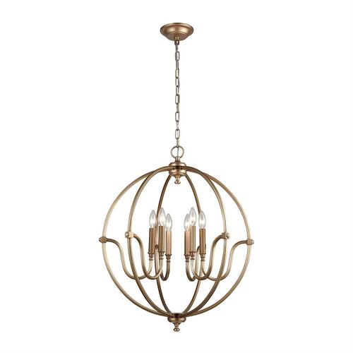 Stanton 6-Light Chandelier in Matte Gold