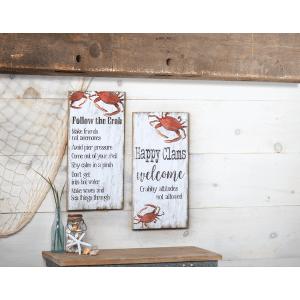 Follow the Crab Plaque