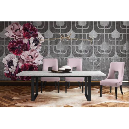 Tov Furniture - Lipstick Blush Velvet Dining Chair