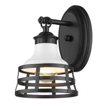 See Details - Locklyn 1 Light Wall Sconce ,Matte Black / Matte White Shade