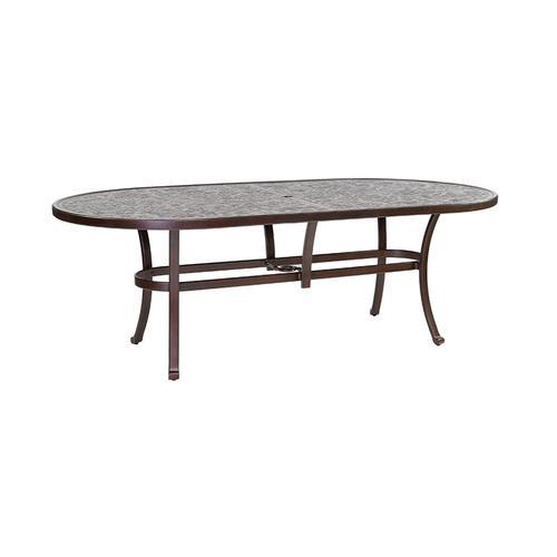 "Castelle - 86"" Vintage Oval Dining Table"