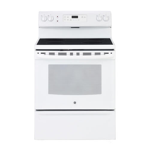 "GE 30"" Electric Freestanding Range with Storage Drawer White JCB635DKWW"