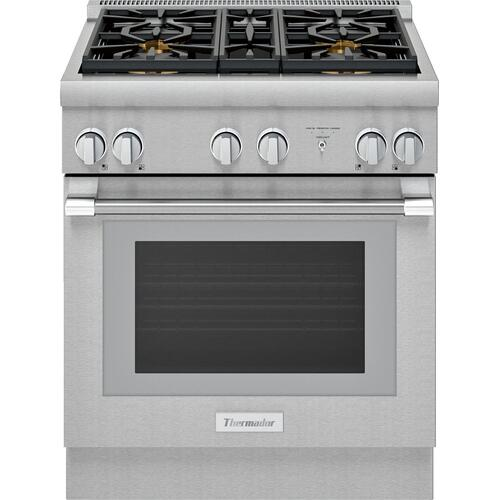 Dual Fuel Professional Range 30'' Pro Harmony® Standard Depth Stainless Steel PRD304WHU