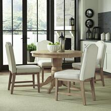 Classic 5-piece Dining Set In Whitewash Finish