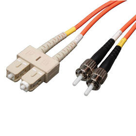 Duplex Multimode 62.5/125 Fiber Patch Cable (SC/ST), 2.4M (8 ft.)