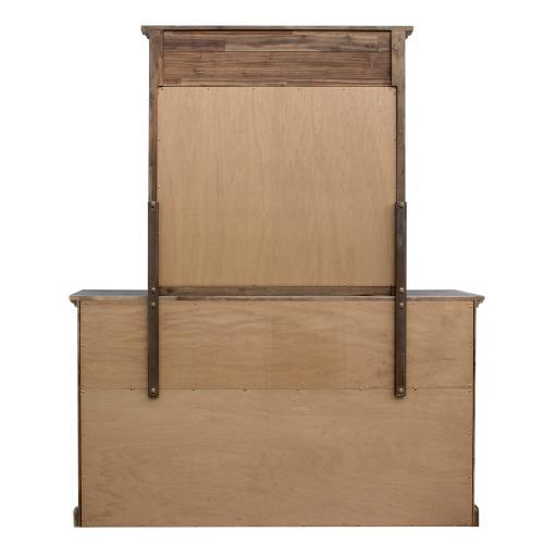 Dresser With Shutter Mirror - Solstice Gray