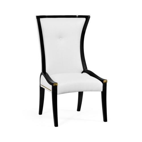 Painted Black Cosmo Dining Side Chair in COM