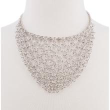 BTQ Silver Mesh Metal Necklace