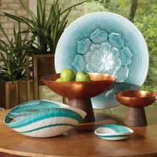 Aqua Swirl Bowl-Lg