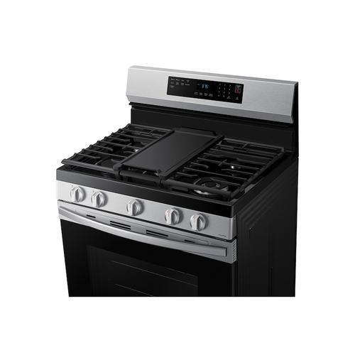 6.0 cu. ft. Smart Freestanding Gas Range with No-Preheat Air Fry & Convection in Stainless Steel