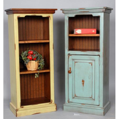 """#505 Sumter Narrow Bookcase w/Door 21.5""""wx13.25""""dx48""""h"""