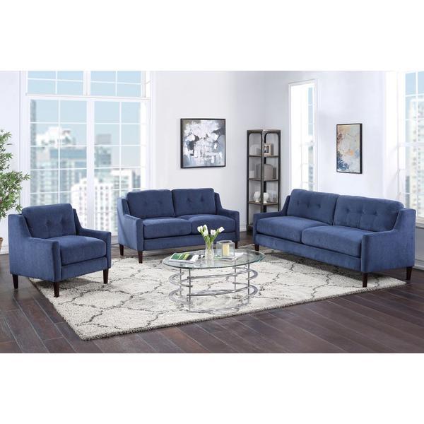 See Details - Mellon Blue Sofa, Loveseat & Chair, U1652