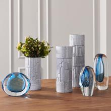 Offset Vase-Light Blue-Sm