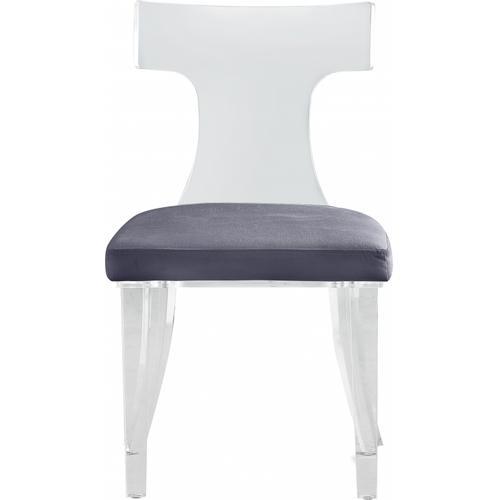 """Lucid Velvet Dining Chair - 20"""" W x 24"""" D x 34"""" H"""