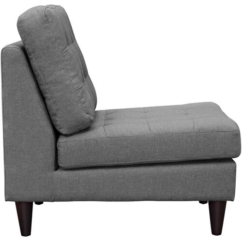 Modway - Empress Upholstered Fabric Lounge Chair in Gray
