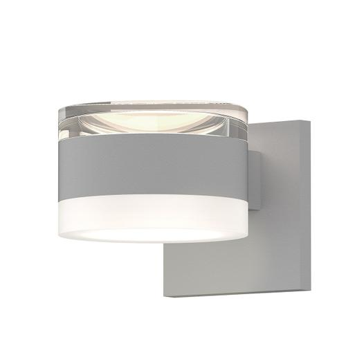 Sonneman - A Way of Light - REALS® Up/Down LED Sconce [Color/Finish=Textured White, Lens Type=Clear Cylinder Lens and White Cylinder Lens]