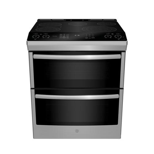 "GE Profile 30"" Built-In Convection Single Wall Oven Black Stainless Steel - PTS9000BNTS"