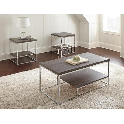 """Lucia 3-Pack Occasional, Gray, C: 24""""x47""""x20"""", E: 22""""x22""""x24"""""""