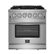 "30"" Gas Range FORNO ALTA QUALITA Pro-Style Gas 5 DEFENDI Italian Burners 68,000 BTU All 304 Stainless Steel FFSGS6239-30"