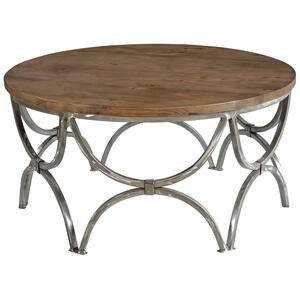 CRESTVIEW COLLECTIONSBengal Manor Mango Wood and Steel Round Cocktail Table