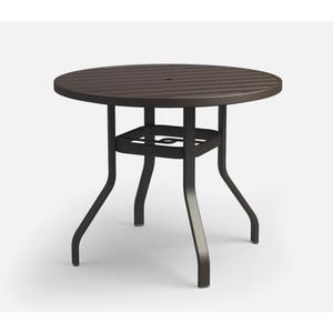 """42"""" Round Bar Table (with Hole) Ht: 40"""" 37XX Universal Aluminum Base (Model # Includes Both Top & Base)"""