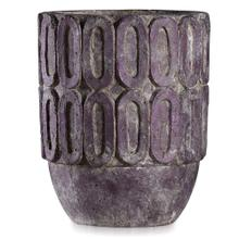 See Details - DOMINICI PLUM  12in w X 14in ht X 12in d  Rustic Artative Recycled Paper Pot