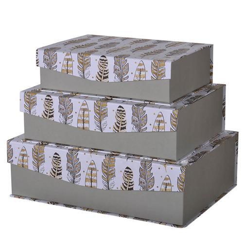 A & B Home - S/3 Storage Boxes