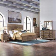 King Optional California Panel Bed, Dresser & Mirror, Chest, Night Stand