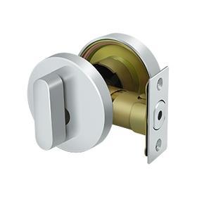 Zinc Modern Low Profile Deadbolt Lock Grade 3 - Polished Chrome