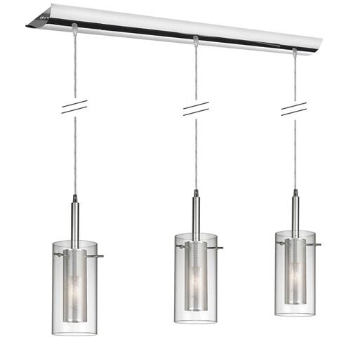 Product Image - 3lt Horizontal Metal W/ Glass Pendant