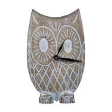 See Details - Twyla Owl Tabletop Clock