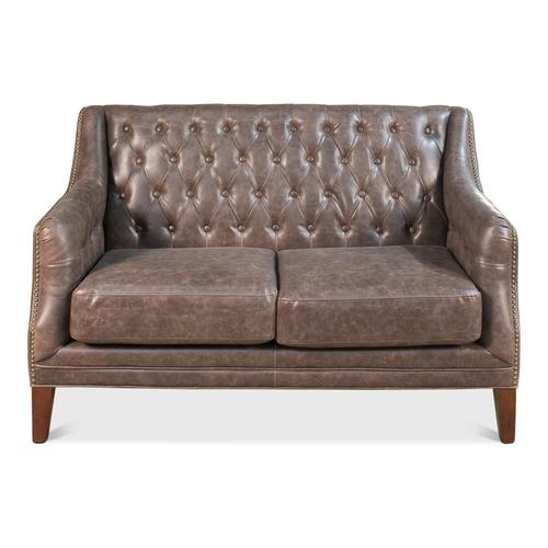 Brooks Leather Tufted 2 Seat Sofa