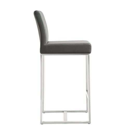 Tov Furniture - Denmark Grey Steel Counter Stool (Set of 2)