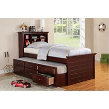 Ferne Twin Bed, Dark-cherry