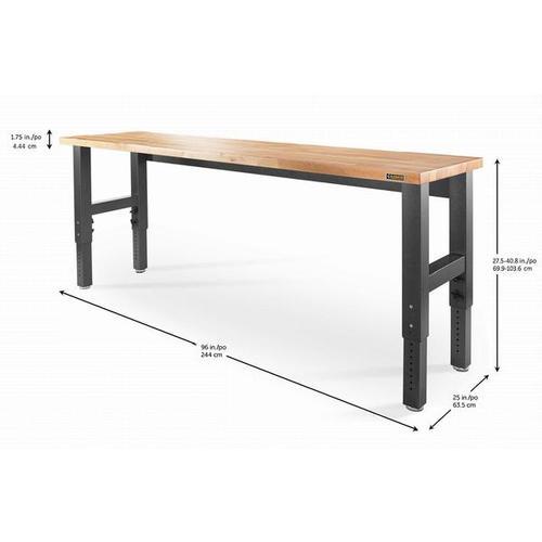 Gladiator - 8' Adjustable Height Hardwood Workbench