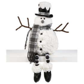 Stuffed Shelfsitter - Snowman with Tophat