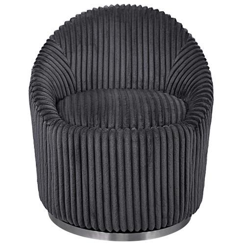 Crue Swivel Chair, Gunmetal