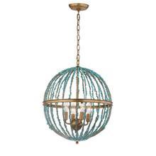 See Details - Lalita Cage Chandelier - Blue