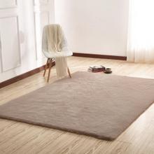 Chinchilla Feel Faux Fur Area Rug by Rug Factory Plus - 2' x 3' / Mocha