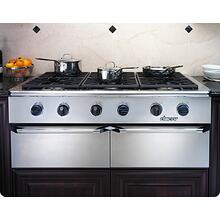 Trim Kit for Epicure EG486 and EG386 Cooktop trim kit to change color of knobs, bullnose and handle endcaps to Chrome