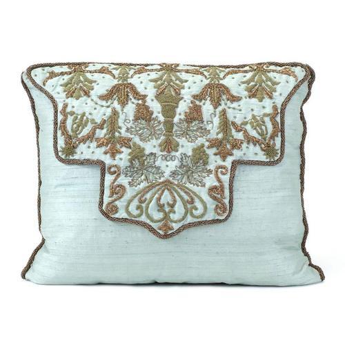 Aqua Silk Pillow