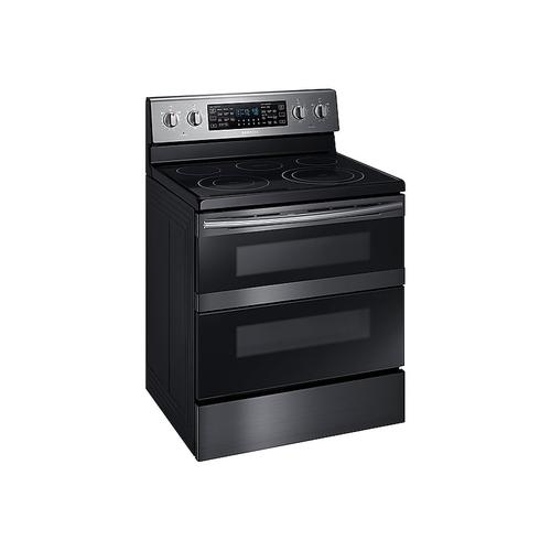 5.9 cu ft. Smart Freestanding Electric Range with Flex Duo™ & Dual Door in Black Stainless Steel